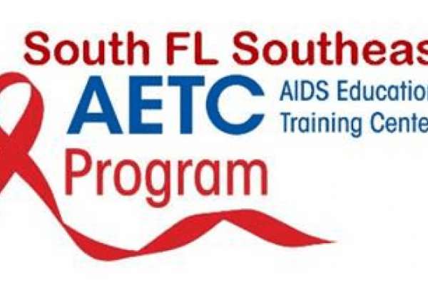 red ribbon with South FL Southeast AETC Program above and beside it